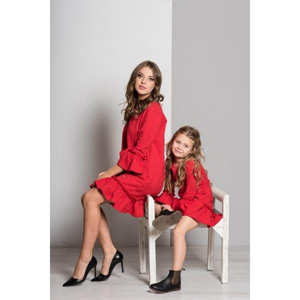 bee0d84de Šaty v červenom prevedení pre mamku a dcéru!