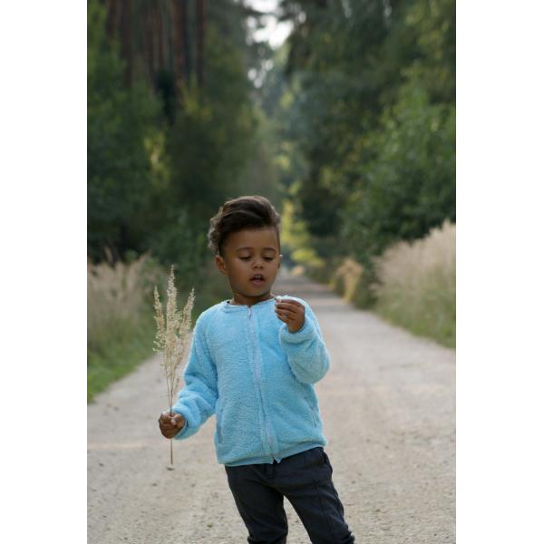 Teplúčka mikina v krásnej tyrkysovej farbe na zips. 7b312962228