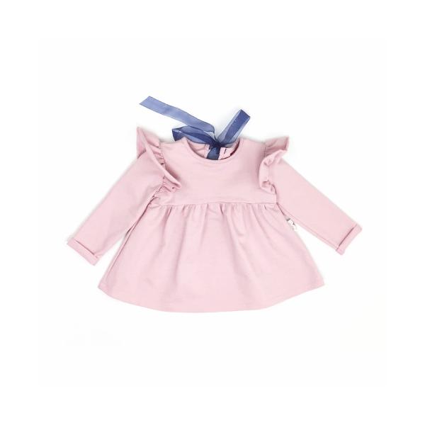 49b108f523eb Pekné a hlavne pohodlné šaty s dlhým rukávom v ružovej farbe.