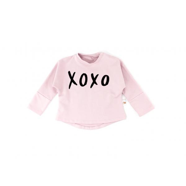 Úžasná bavlnená mikina v ružovej farbe s nápisom XOXO. de73d8aac19