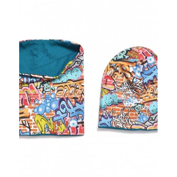 16711a076 Veľmi praktická zároveň pohodlná čiapka pre chlapcov s nádhernou potlačou  grafitov!