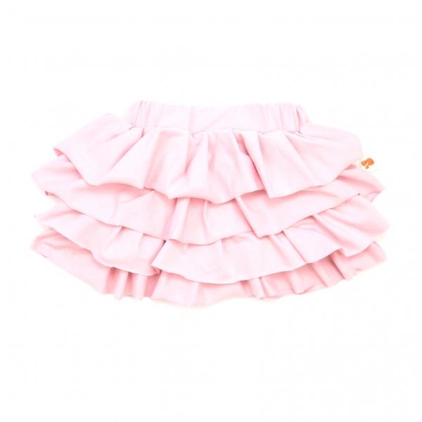 870f0c0b055b Rozkošná sukňa v púdrovo-ružovej farbe ušitá z úpletu